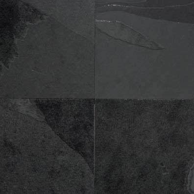 Pavimento in ardesia brasiliana a spacco di cava nera - Bagno in ardesia ...