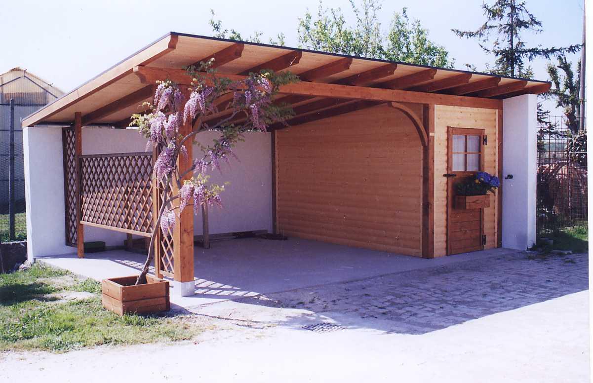 Box auto in legno di abete impregnato o colorato box auto for Due progetti di garage per auto