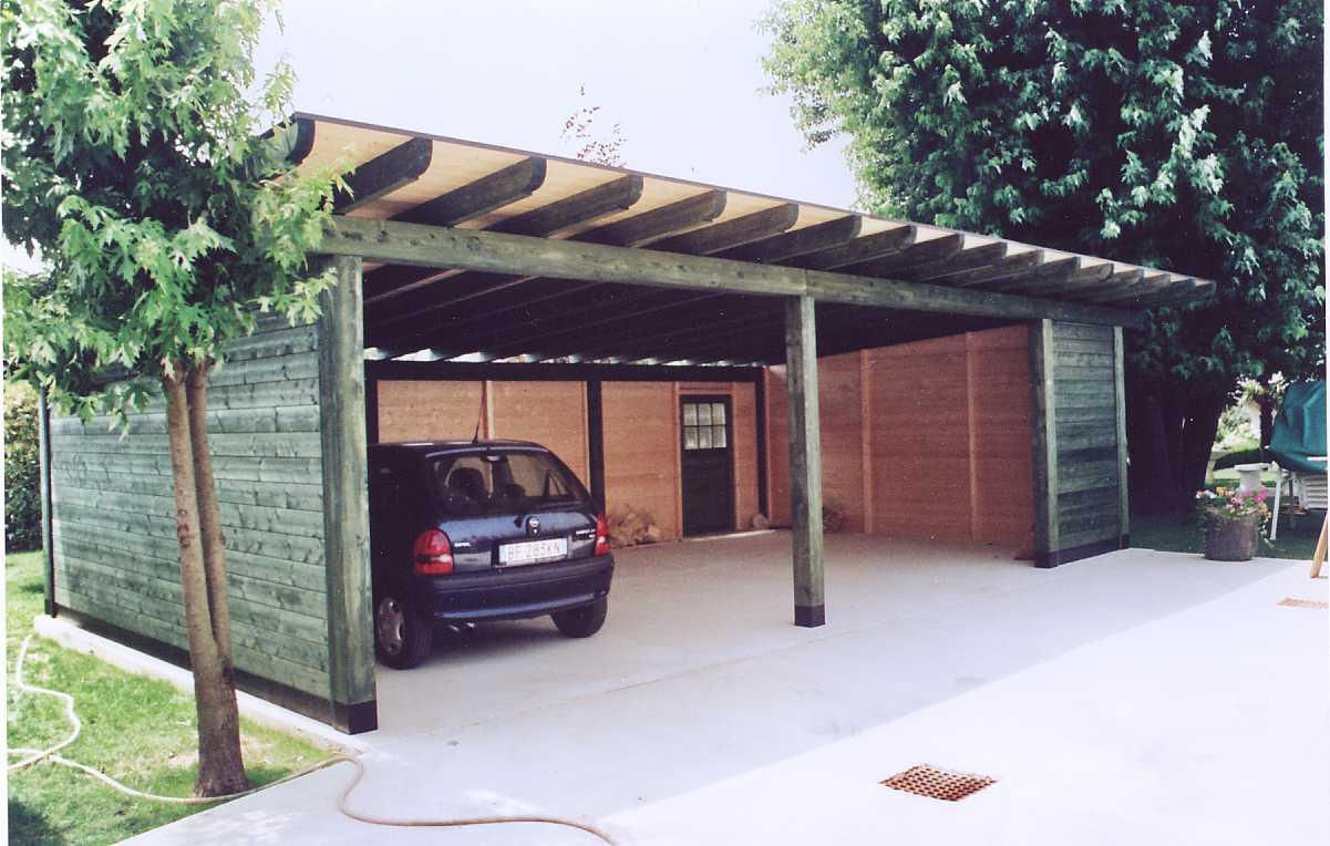 Box auto in legno di abete impregnato o colorato box auto for Box auto richiudibile prezzi