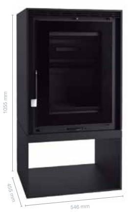 Stufa a legna  EZ 150 FK ventilata  10,5 Kw.