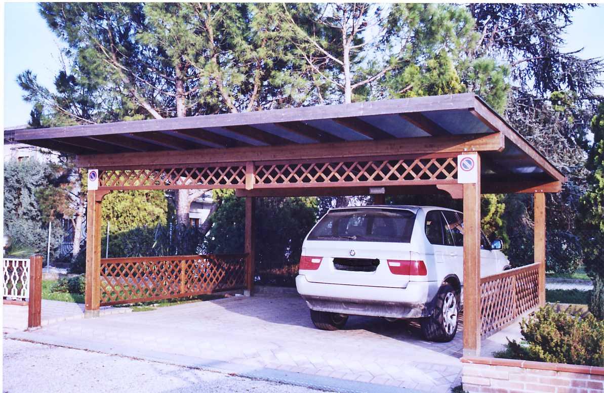 Box auto in legno di abete impregnato o colorato box auto for 10 piani di garage per auto