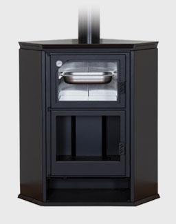 Stufa a legna con forno angolare ferlux - Stufe forno a legna ...