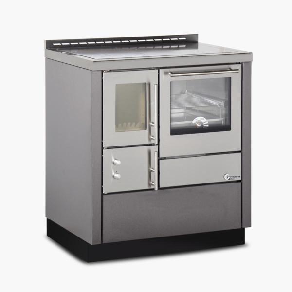 Cucina a legna  OKO EASY 75  porta vetro  8,8 Kw.