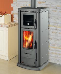 Stufa a legna con forno canalizzabile 860 easy - Stufe pellet con forno ...