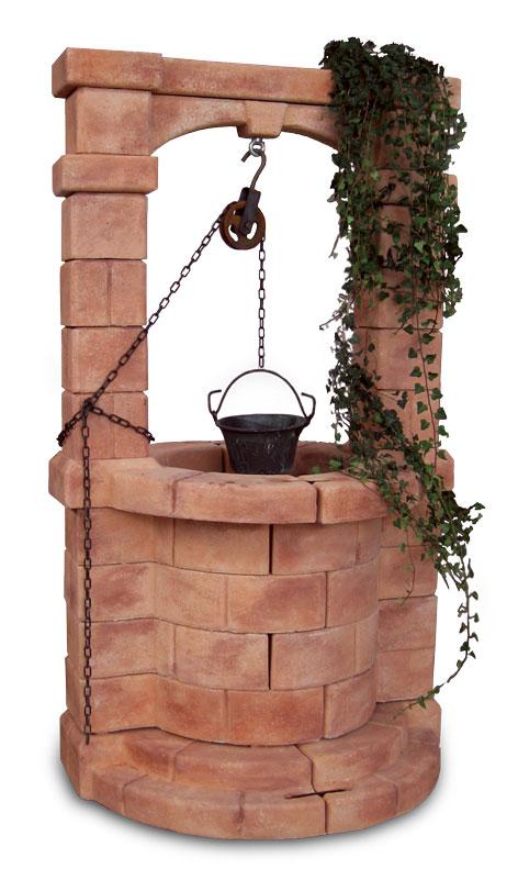 Pozzo in cemento colorato brenta for Pozzi finti per giardino