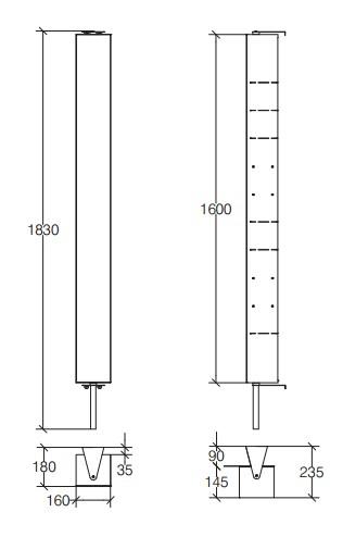 trendy armoire colonne pivotante avec miroir acier inox pikau with colonne salle de bain pivotante. Black Bedroom Furniture Sets. Home Design Ideas