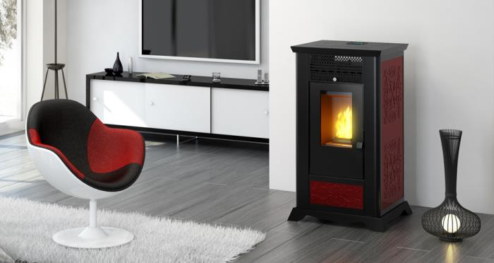 Pellet stove afrodite top flue outlet 10 Kw. pasqualicchio