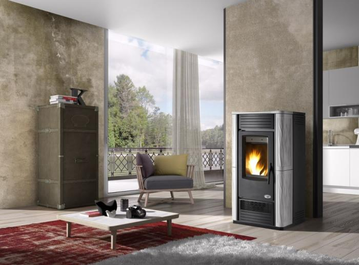 poele a pellet hydro ventile varsavia 27 kw avec kit. Black Bedroom Furniture Sets. Home Design Ideas