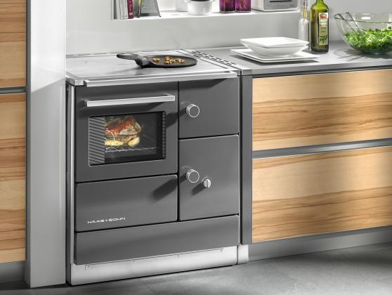 Cucina a legna economica haas sohn dh 75 5 - Cucine in vetroceramica ...