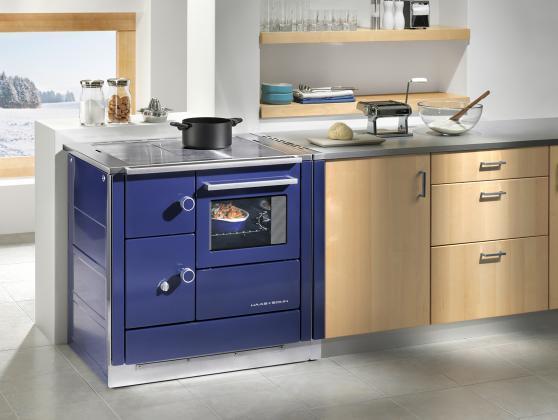 Cucina a legna economica haas sohn dh 85 5 - Cucine in vetroceramica ...
