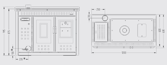 Termocucina a pellet klover termostufa a pellet smart 120 for Termocucina laminox
