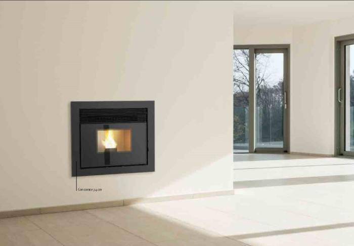 Inserto a pellet   EARTH 9 Kw.