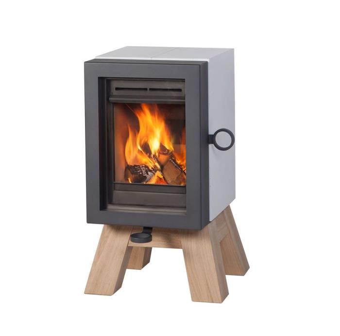 stufa a legna oak concrete 5 kw. Black Bedroom Furniture Sets. Home Design Ideas