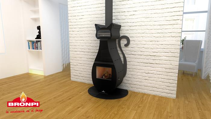Stufa a legna con forno FIGARO 9,5 Kw.