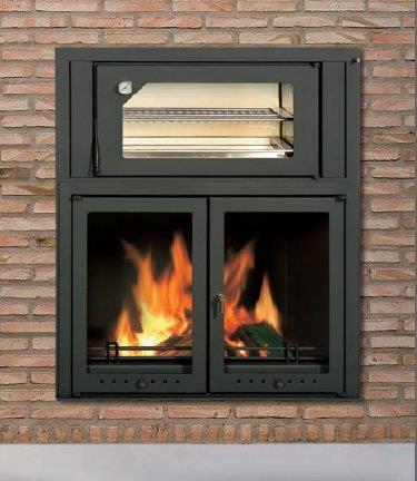 Camino a legna con forno idee immagine di decorazione - Camino con forno ...