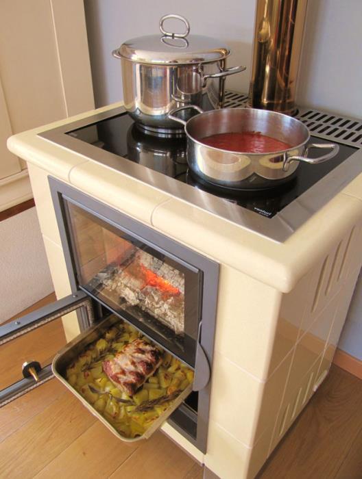 cucina combinata a legna gas elettrico con focolare forno a ...