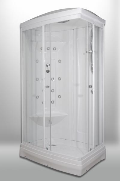 Cabina doccia semicircolare tigris 110x70 sauna - Cabina doccia sauna ...