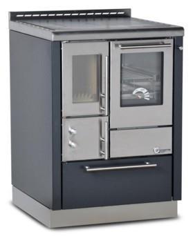 Cucina a legna OKO POWER 60 BR porta vetro  6,5  Kw.