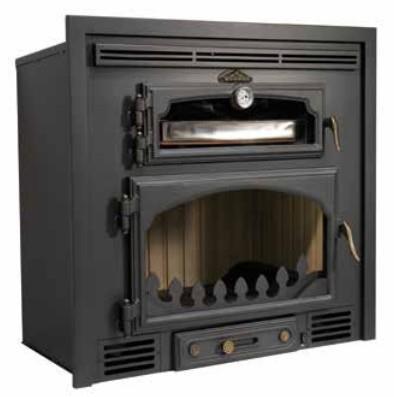 Inserto a legna con forno EVEREST  14 Kw.