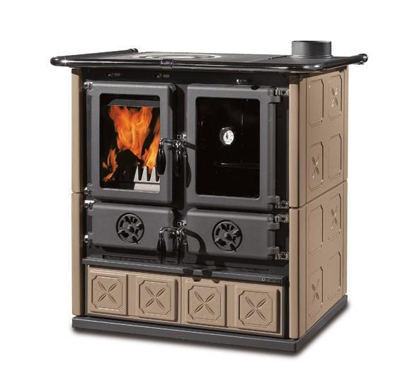 Cucina a legna economica rosetta maiolica la nordica - Cucina economica splendid ...
