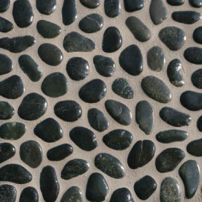Mosaico in ciottoli di sasso su rete in 11 colorazioni - Piastrelle tipo mosaico ...