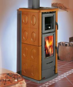 Stufa a legna con forno canalizzabile 860 ov - Stufe sergio leoni ...