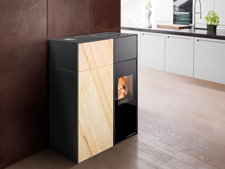 vendita stufa a pellet haas sohn catania in pietra. Black Bedroom Furniture Sets. Home Design Ideas
