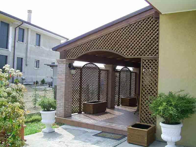 Grigliati in legno di abete impregnato o colorato grigliati su misura in legno - Recinzione terrazzo ...