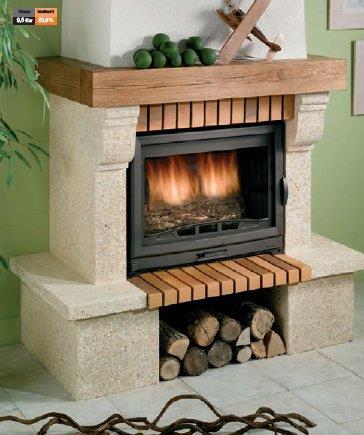 Rivestimento in pietra e mattoni vendita cornici per - Rivestimenti per caminetti a legna ...