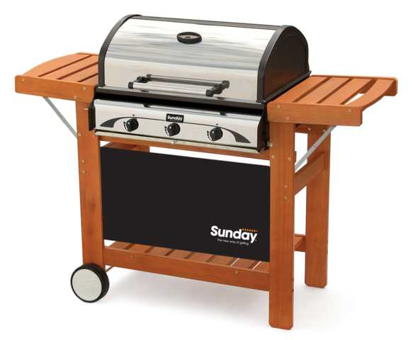 Barbecue gas barbecue profy 3 inox sunday for Barbecue sunday
