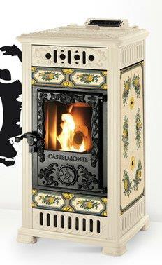 stufa a pellet castelmonte marilyn 13 kw canalizzata. Black Bedroom Furniture Sets. Home Design Ideas