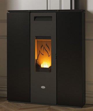 Stufa a legna nadia eva calor per piccoli spazi e corridoi - Stufa a pellet per piccoli ambienti ...