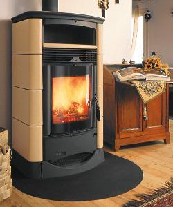 Stufa a legna canalizzata vision in maiolica - Stufe a legna per riscaldamento ...